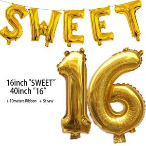 Image 2 - Decorações de festas 16 anos, suprimentos para decoração de aniversários 16 anos