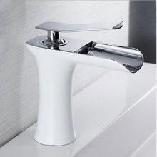 Basin Faucets Waterfall Bathroom Faucet Basin Mixer Tap Bath Antique Faucet Brass Sink Water Crane Silver