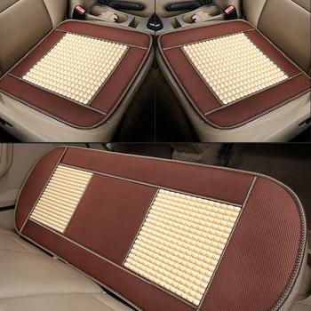 Pokrowiec na samochód letni cooler jednoczęściowy imitacja PVC drewniane koraliki bez pleców trzyczęściowy zestaw tylny uniwersalny fotelik samochodowy cushio tanie i dobre opinie AiYuJi Cztery pory roku 45cm Pokrowce i podpory 0 3kg 45inch Automotive General