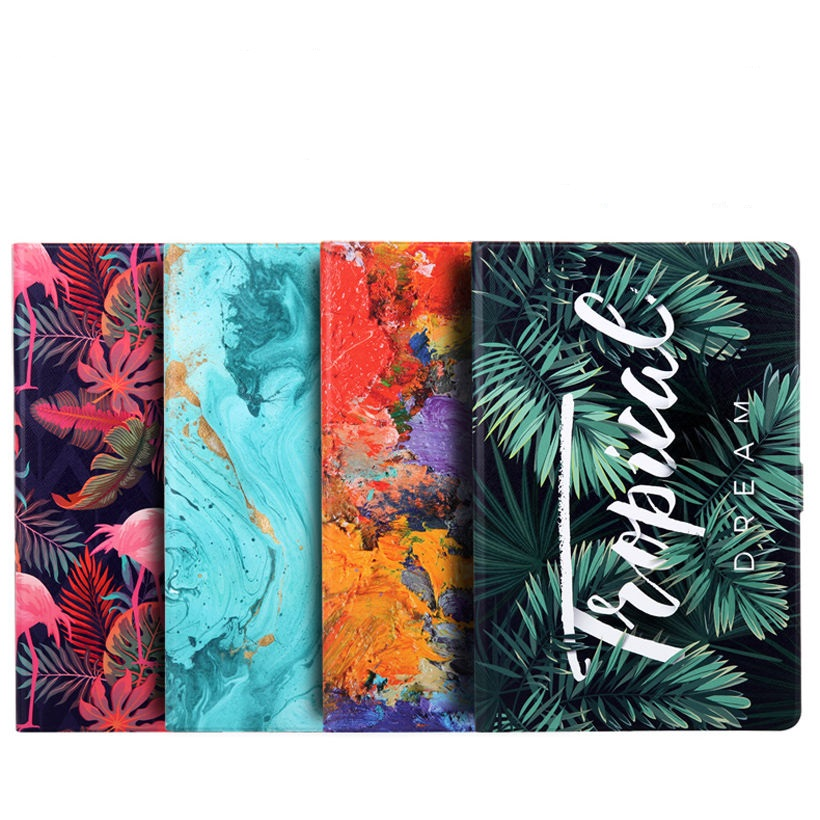 Fashion Colorful Printed Cover For Samsung Galaxy Tab S6 10.5 INCH SM-T860 SM-T865 T860 Case PU Leather TPU Stand Shell Funda