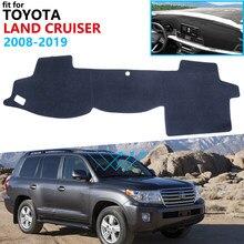 Capa de painel almofada protetora para toyota land cruiser 200 j200 2008 ~ 2019 acessórios do carro placa traço pára-sol tapete 2010 2018
