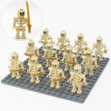 Soldiers Toys Weapon Building-Blocks Action-Figure Small Bricks Ninja-Skeleton Army Ghost