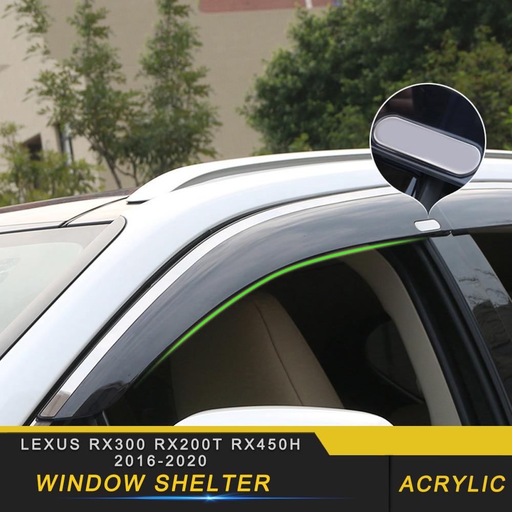 สำหรับ Lexus RX300 RX200t RX450h 2015-2020 จัดแต่งทรงผมรถหน้าต่าง Sun Rain Shade Shelter ป้องกันอุปกรณ์เสริมภายนอก