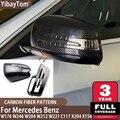 Сменные колпачки для боковых зеркал заднего вида из углеродного волокна, 2 шт., для Mercedes Benz W176 W246 W204 W212 W221 C117 X204 X156