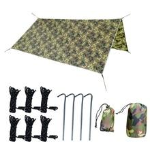 Ultralight 3Mx3M Camping Tarp Sun Shelter Tent Rain Car Tarpaulin Waterproof Cover Shade Camouflage Awning