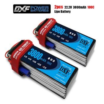 2PCS DXF Good Quality RC Lipo battery 6S 22.2V 3800mah 100C Max 200C for  Airplane Drone Quadrotor Car Boat truck fpv
