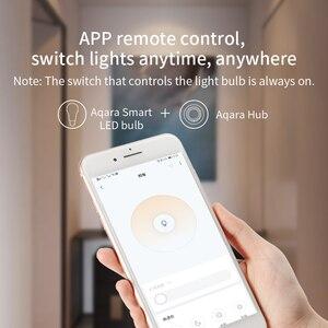 Image 4 - Набор для умного дома Xiaomi Aqara хаб 3 настенный беспроводной переключатель лампа дверь датчик движения температуры релейный модуль камера MI Home