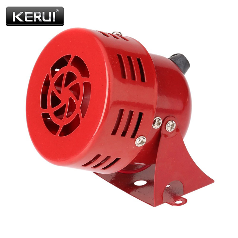 Free Shipping High Quality Wired Automotive Air Raid Siren Horn Car Truck Motor Driven Alarm Red Siren Alarm 110DB