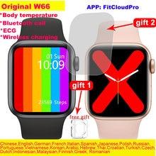 Original iwo 14 w66 relógio inteligente das mulheres dos homens bluetooth chamada freqüência cardíaca termometro gesto do perodo feminino pressão arterial vs w56 w46