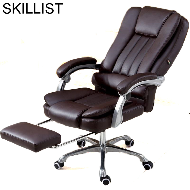 Ordinateur Meuble Ergonomic Fotel Biurowy Bureau Sedie Armchair Sandalyeler Stool Leather Gaming Cadeira Poltrona Office Chair