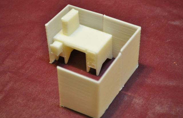 Cabine de bureau commande personnalisée de haute qualité haute précision modèles numériques service dimpression 3D jouets drôles ST6027
