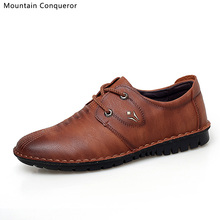Mountain Conqueror New 2019 Men Casual Shoes Microfiber Breathable Brand Flats Slip On Driving for Drop Shipping