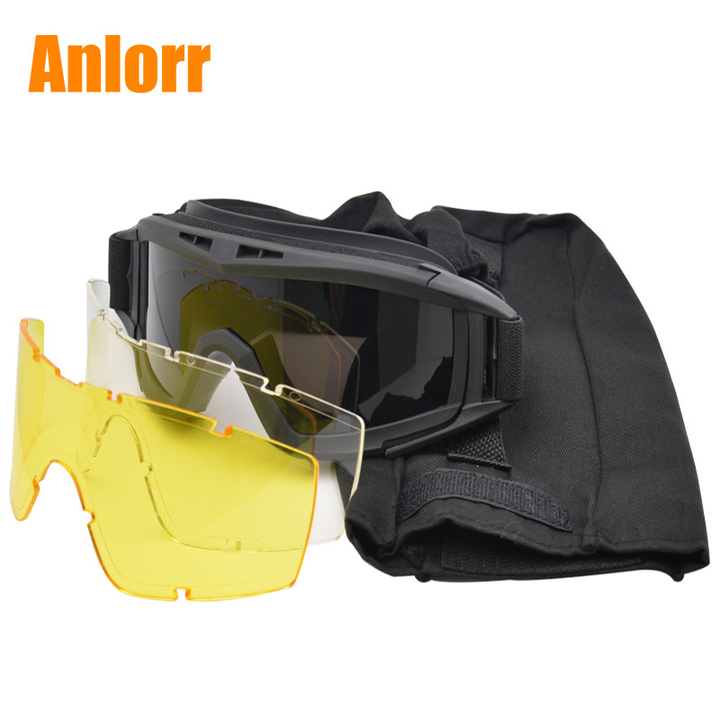 Currently Available Wholesale Army Fans Glasses Tactical Goggles Impact Resistance Desert Eye-protection Goggles Special Forces
