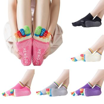 Women-Socks-Anti-slip-Five-Fingers-Backless-Silicone-Non-slip-5-Toe-Socks-Ballet-Gym-Fitness