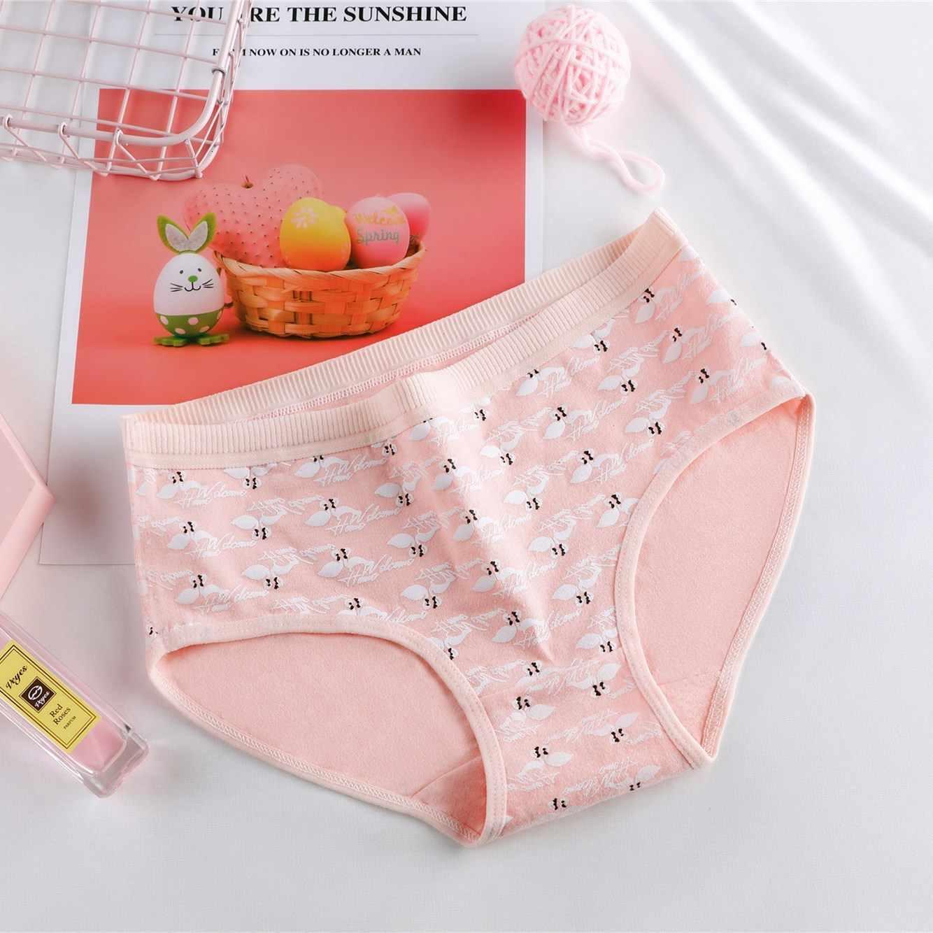 Baru Celana Dalam untuk Wanita Katun Pola Flamingo Cetak Lucu Pakaian Dalam Seperti Celana Kartun Pakaian Dalam Wanita Celana Dalam Wanita Celana Dalam