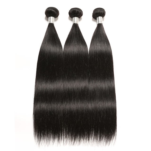Brazilian Straight Hair Weave Bundles Remy Human Hair Straight 3 4 Bundles 8-28 Inch Hair Extension ALIPOP 3