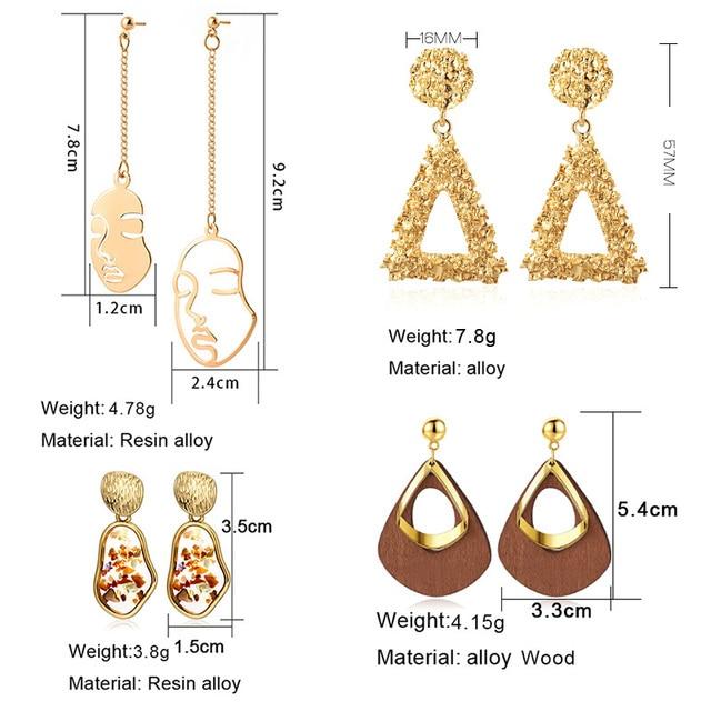 Boucles d'oreilles mode coréenne  6