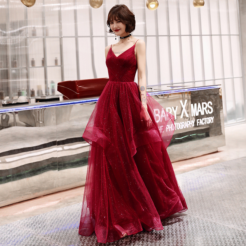 Young Lady Sexy Spaghetti Strap Maxi Prom Gown Elegant Qipao Exquisite Maxi Dress Noble Mesh Choengsam Vestidos De Festa