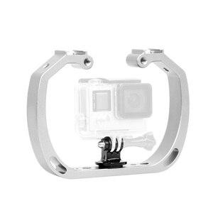 Image 2 - الغوص تحت الماء يده عمل حامل كاميرا مزدوجة الذراع صينية دعم استقرار حامل قفص Selfie Monopod جبل ل GoPro