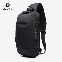 OZUKO Anti-theft Chest Bag for Men Multifunction Crossbody Bags Waterproof Male Sling Messenger Bag Short Trip Mens Chest pack