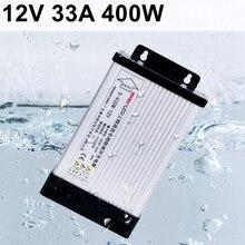 400 Вт 12 В 33а драйвер импульсного источника питания непромокаемый для камеры видеонаблюдения Светодиодная лента 200-230 В вход переменного тока в постоянный ток 12 в наружное использование