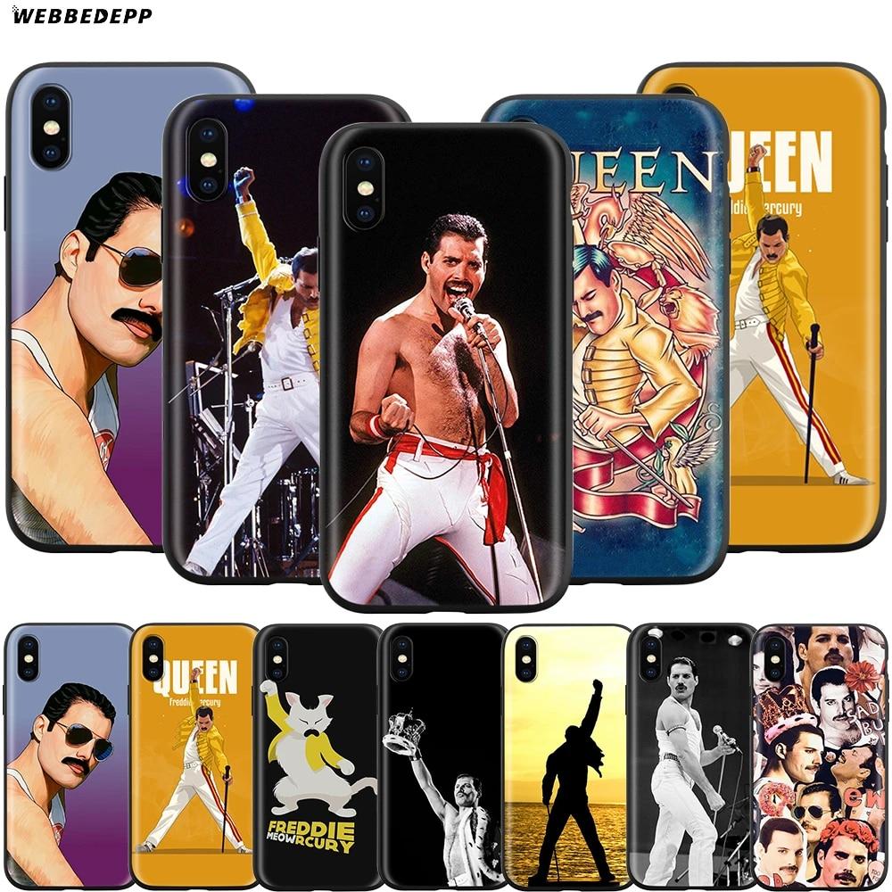 Webbedepp Freddie Mercury Queen Case for Apple iPhone 12 Mini 11 Pro XS Max XR X 8 7 6 6S Plus 5 5S SE