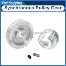 2pcs metal synchronous Pulley gear motor belt gear drive whe