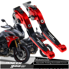 For YAMAHA TRACER 900 GT TRACER900/GT 2018 2019 CNC Full Black Adjustable Folding Extendable Motorcycle Brake Clutch Levers