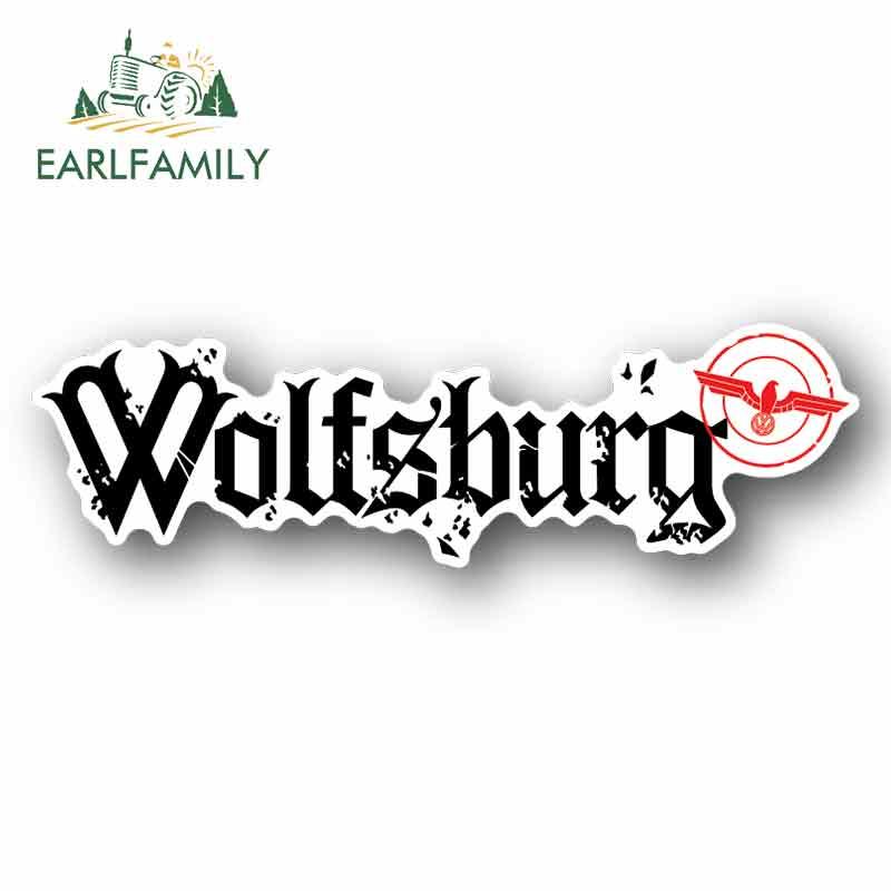 EARLFAMILY 13cm X 3.9cm For Wolfsburg Motorcycle Car Bumper Window Stickers Graffiti Sticker Vinyl Material Occlusion Scratch