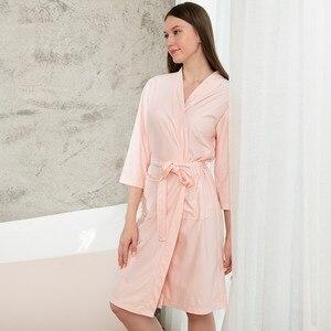 Image 4 - Taglie forti Kimono da donna accappatoio indumenti da notte lunghi Waffle sposa damigella donore abito da sposa camicia da notte Sexy Lady Solid Nightwear