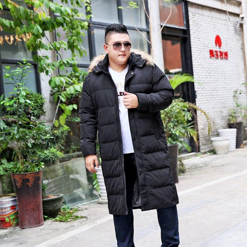 Jacket Down Men's Korean Plus Size Winter Coat Men Long White Duck Down Puffer Jacket Men Warm Doudoune Homme 197 YY1301