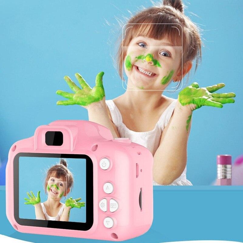Mini Camera Kids Toys Cartoon HD Screen Digital Cameras Video Recorder Camcorder Language High Quality Kids Digital HD Camera
