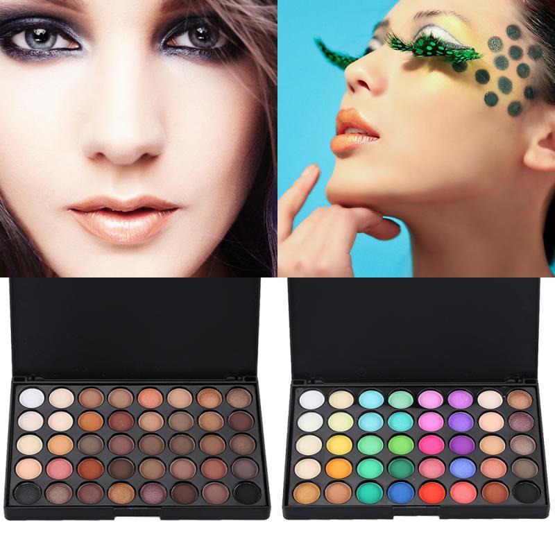 40 Colors Matte Eyeshadow Palette Cosmetic Matte Eyeshadow Cream Makeup Palette Shimmer Set Diamond Shimmer TSLM1