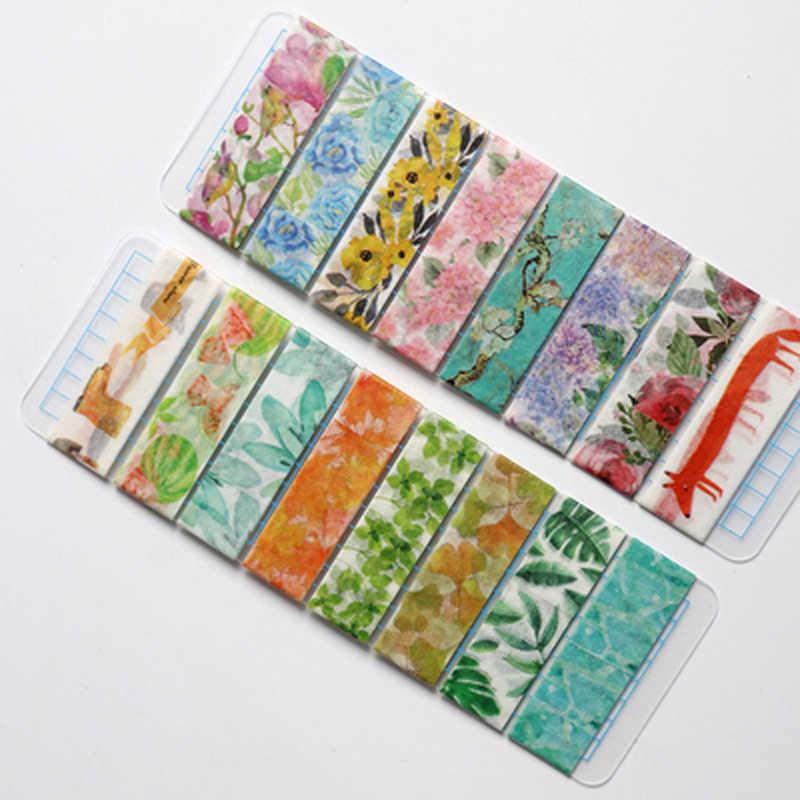 Cute Tanaman Bunga Jepang Masking Washi Tape Pita Perekat Decora DIY Dekoratif Scrapbooking Stiker Label Stationery Hadiah