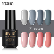 ROSALIND 7ML Gel Polish Gorgeous Color Nail Polish Vernis Semi Permanent Top Coat Base Coat Gel Nail Art Varnishes Gel Lacquer