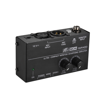 Ultra-Compact Monitor Headphone Amplifier Amp with XLR Microphone Input 6.35mm & 3.5mm - discount item  38% OFF Musical Instruments