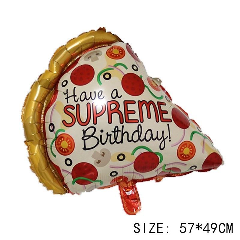 Food Pizza Burger Hotdog Ice Cream Pop Corn Doughnut Birthday Party Foil Balloon