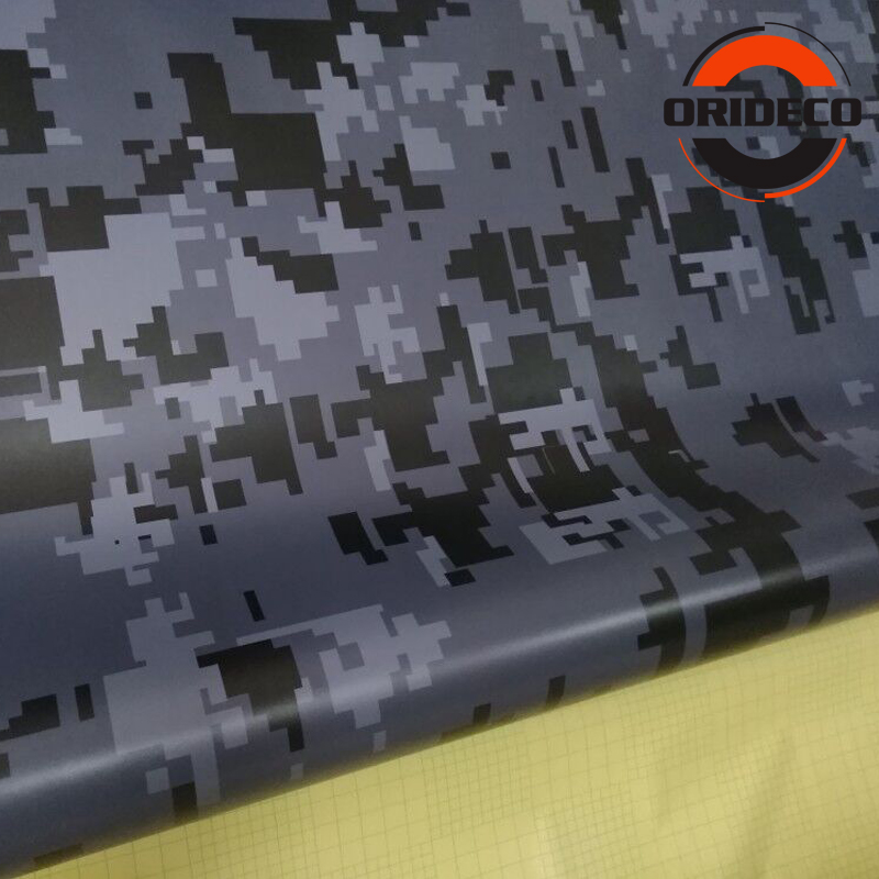5/10/15/20/25/30m * 1.52m Grijs Zwart Digitale Camouflage Auto sticker Digit Camo Vinyl voor Auto Voertuig Body Wraps - 2