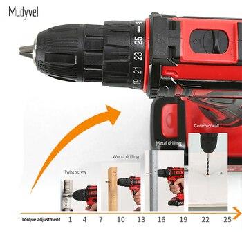Schroevendraaier Accu 12V Power Tools Oplaadbare Batterij Breder Profesional 3/8-Inch 2-Speed Cordless Mini Boor Elektrische