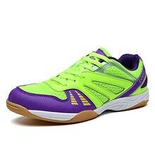 2020 New Men White Blue Badminton Shoes Women Air mesh Anti-Slippery Training Pr