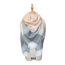 Winter Cashmere Triangle Scarf Women Stole Blanket Shawl Neck Lady Bandana Plaid Poncho Pashmina Scarves For 2019