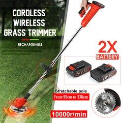 Cordless Gras Trimmer 25000r/min Einstellbar Hause DIY Garten Rebschnitt Cutter Leistungsstarke Garten Werkzeuge mit 2Pcs 21V 3000mah Batterie