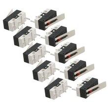 цена на 10 Pcs AC 125V 1A SPDT 1NO 1NC Momentary Long Hinge Lever Micro Switch