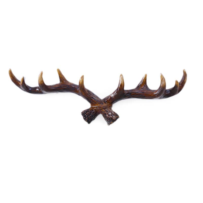 European Style Retro Antlers Hooks Wall Hanging Coat Hook Resin Sundries Hanger Wall Mounts Room Storage Racks Crafts Home Decor|Hooks & Rails| |  - title=