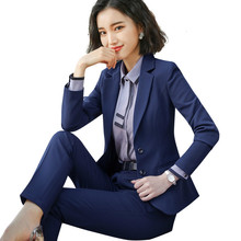 New Business Interview Women Suit Large Office Ladies Wear Long Sleeved Work Pants Slim Jacket And All Maternity
