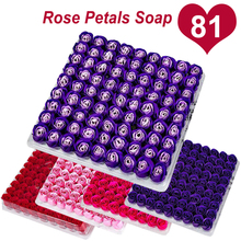 81 Pcs Rose Bath Body Flower Floral Soap Scented Essential Oil Guest Wedding Party ValentineS Day Gift