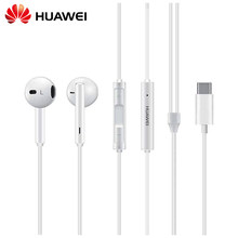Riginal huawei cm33 fone de ouvido usb tipo-c no ouvido fone de ouvido fone de ouvido microfone volume huawei companheiro 10 pro 20 x rs p20 30 p40 honra 7 8 v8