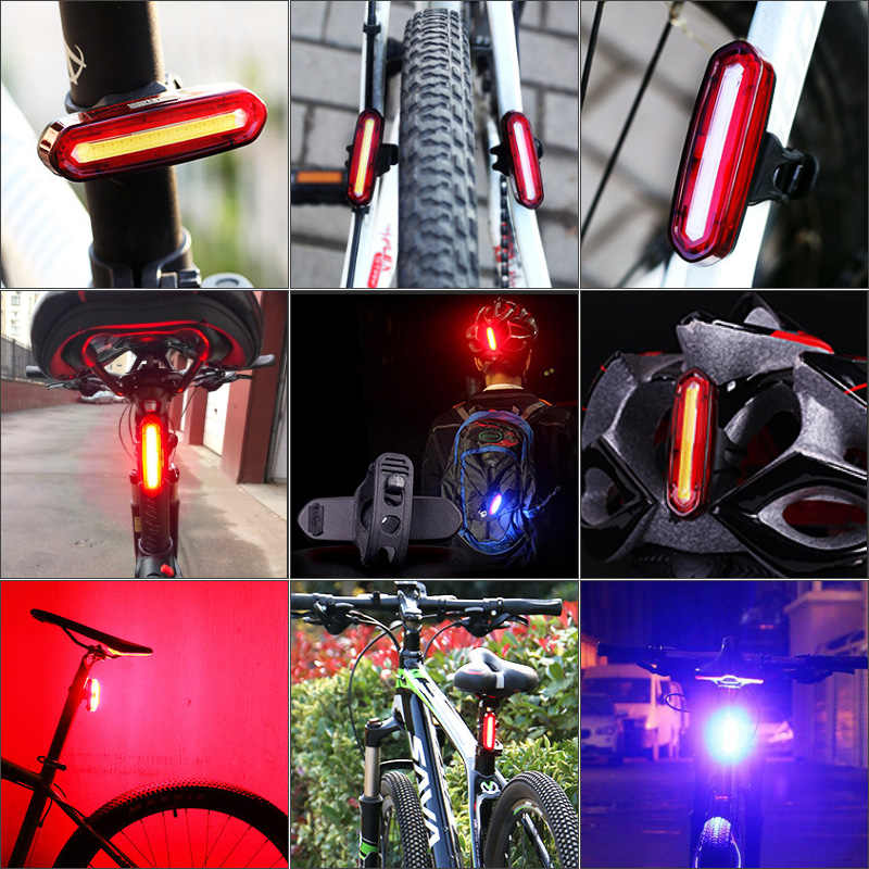 Bicycle Taillight Mountain Bike Road USBCharge LED Bright Light Flash Waterproof