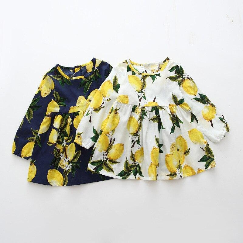 De 3 a 7 años de Primavera de algodón de verano vestido de niña de los niños de manga vestido de lunares vestidos infantiles para niñas moda para chicas ropa
