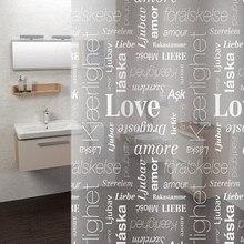 12 pièces crochets PEVA imprimé rideau de douche motif lettre anglaise épaissir rideau étanche rideau de salle de bain translucide